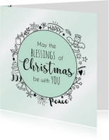 Kerstkaart Blessings 3 - WW