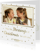 Kerstkaart Blessings - WW