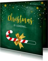 Kerstkaart Christmas is loading