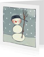 Kerstkaart CliniClowns snowman