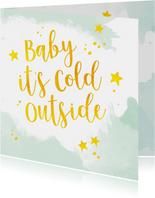 Kerstkaart cold outside