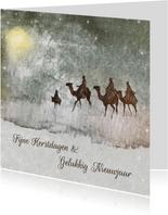 Kerstkaart De drie Wijzen uit het oosten