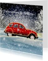 Kerstkaarten - Kerstkaart driving home for christmas