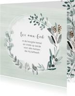 Kerstkaart eucalyptus takjes met eigen (christelijke) tekst