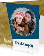 Kerstkaarten - Kerstkaart foto confetti met aanpasbare achtergrondkleur