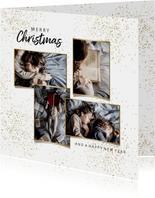 Kerstkaart goudlook foto collage