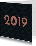 Kerstkaart  grafische ster 2019