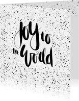Kerstkaart handlettering Joy - HM