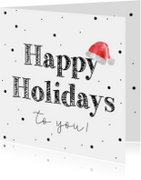 Kerstkaart.  Happy holidays to you kerstmuts