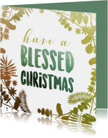Kerstkaart - Have a blessed christmas