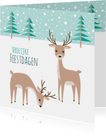 Kerstkaart herten - HB