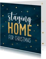 Kerstkaart home for christmas
