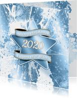 Kerstkaart ijs ster 2020 A RB