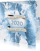 Kerstkaart ijs ster 2020 foto