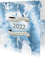 Kerstkaart ijs ster 2022 foto