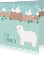 Kerstkaart ijsbeer - HB