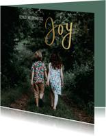 Kerstkaart Joy