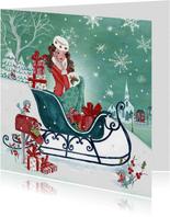 Kerstkaart kerst Shoppen