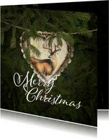 Kerstkaart kersthart en hert