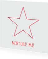 Kerstkaarten - Kerstkaart-kerstster-rodester-SK