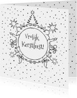 Kerstkaarten - kerstkaart krans-JB