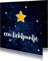 Kerstkaart lichtpuntje met sterren