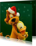 Kerstkaart liefs van Loeki en Guusje - A
