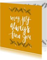 Kerstkaart may joy - HM