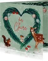 Kerstkaart met hart