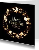 Kerstkaarten - Kerstkaart met sterren krans