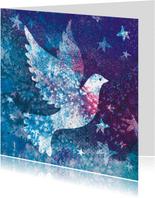 Kerstkaart met vredesduif - mooie illustratie