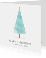Kerstkaart modern en minimalistisch!