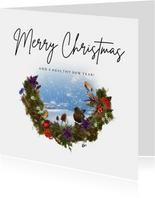 Kerstkaart natuur winters landschap 2021