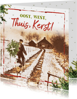 Kerstkaart Oost west thuis kerst