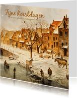 Kerstkaart Oudhollandse Winter