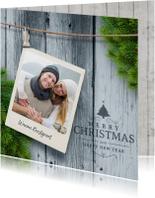 Kerstkaart met foto kersttak