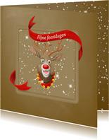 Kerstkaart Rudolph