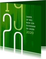 Kerstkaart Samen op weg naar een duurzaam en groen 2020