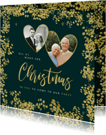 Kerstkaart save the date jubileum goud christmas