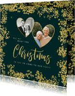 Kerstkaart save the date jubileum goud christmas