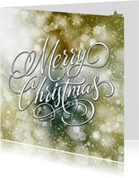 Kerstkaart schitterend groen Merry Christmas