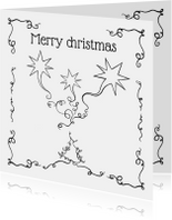 Kerstkaarten - Kerstkaart sierlijk JB