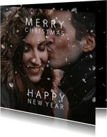 Kerstkaart sneeuweffect over je foto
