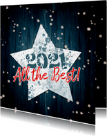 Kerstkaart ster en hout 2021