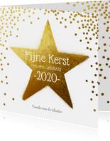 2020 Kerstkaart ster goud
