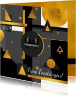 Kerstkaart stijlvol goud 2019