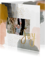 Kerstkaart verf joyful