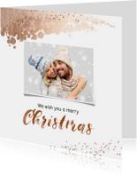 Kerstkaart vierkant met foto