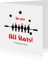 Zakelijke kerstkaarten - Kerstkaart voetbalvereniging All Stars