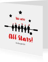 Kerstkaart voetbalvereniging All Stars